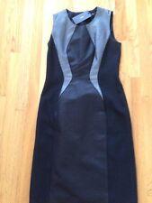 New Hugo Boss Black/siver Textured Sleeveless Dress Sz. 4