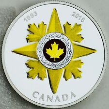 2018 $20 Canadian Honours 25th Anniversary of the Star of Military Valour Silver