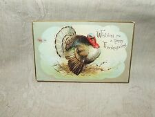 1907-14 Turkey HAPPY THANKSGIVING Postcard Embossed International Art Germany
