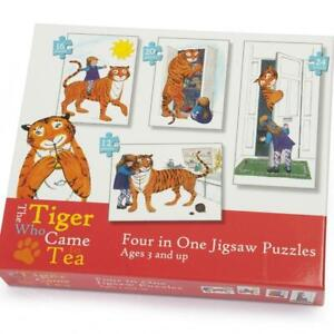 4-in-1 Jigsaw Puzzles - The Tiger Who Came To Tea - Judith Kerr
