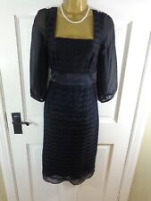 Monsoon Black Lace Special Occasion Lined Dress, UK 12, Excellent Cond REDUCED