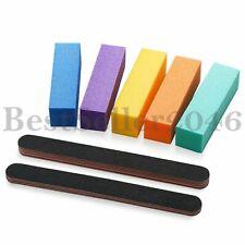 10pcs Sanding Nail File Block Shiner Polisher Pro Art Pedicure Manicure Tool Set
