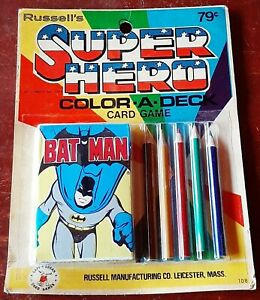 1977 Russell's Super Hero Color A Deck Card Game, Batman factory sealed