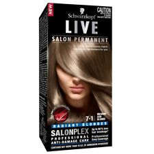 Schwarzkopf Live Salon 7.1 Medium Ash Blonde Intensive, long-lasting colour