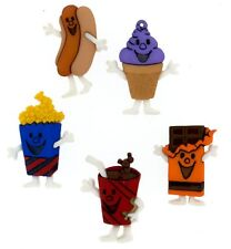 Jesse James Buttons - Dress It Up - FOOD - MOVIE MUNCHIES 7686 Sewing Crafts