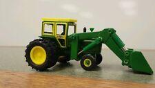 1/64 ERTL custom John deere 4020 tractor with Duals & John deere loader farm toy