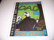 EXTREMELY RARE 1936 SIGNED 29 AUTOGRAPH ILLINOIS v OHIO COLLEGE FOOTBALL PROGRAM