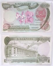 Rare A1 SINGAPORE $500 Five Hundred Orchid Series Old Bank Notes @ Legal Tender