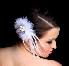 Bridal Hair Accessories Satin Flower Crystals & Pearls