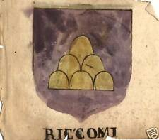 FAMIGLIA RICCOMI E ROFI STEMMA NOBILIARE 600esco