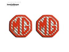 MG ZR ZS,MGF MK1 Badge Inserts Front Grill Rear Boot Badges 59mm Red Carbon