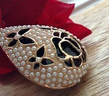 Collar Inusual Regalo para Ella Rose Mariposas Filigrana verano Rose Art Deco