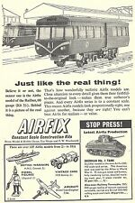 Airfix 00 Gauge Railbus Train + Sherman Tank Advert - Original 1961