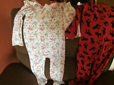 2 Beautiful Fun Sleepwear 1 Has Feet Warm Peppy Mini & Leverat W/Tags Size 3T