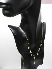 "14K Yellow Gold ""Y"" By the yard Culture Pearl Necklace 18"""