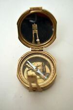 SOLID BRASS  NATURAL SINE  COMPASS  INDIA - NAUTICAL - GEOLOGICAL - SURVEYING
