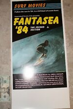 Fantasea 1984 Surf Film George Greenough Pete Crawford Surfing 13x22in. Poster