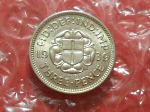 1939 George VI threepence.