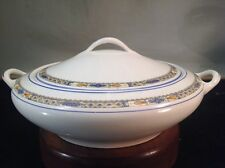 """Antique Serving Bowl & Lid By Owen China Minerva Pattern 10"""", Two Handles"""