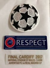 Juventus Final Cardiff 2017 Real madrid Match Detail Patch Set Jersey Shirt