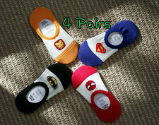 Superhero ankle socks bat spider iron super 4Pairs Funny cool best ankle socks