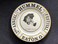 Neat 2nd Annual Hummel Festival Plate 1978 Eaton Ohio Noritake Ivory China