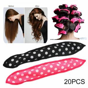 20x Hair Rollers Set Foam Curlers Soft Sleep-In Twists Curls Beach Waves Styling