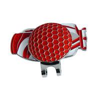 Red Golf Bag Design Golf Ball Marker w/ Magnetic Hat Clip Set Golfer Gift