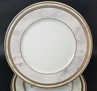 "Set of 6 Oscar De La Renta Fine Ivory Florentine 10 3/4"" Dinner Plates L2359"