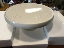 "NEW Hallmark Snowflake Pedestal Cake Stand 10"""