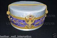 MASONIC 33RD DEGREE SCOTTISH RITE WINGS UP W/VINE WORK CAP (WHITE)