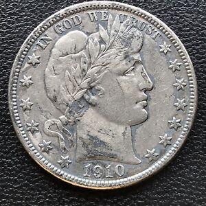 1910 S Barber Half Dollar 50c Rare High Grade XF - AU Details  #16807