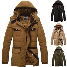 Giubbotto uomo Parka Pelliccia giacca con cappuccio giubbino M L XL XXL XXL