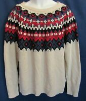Chaps Men's XXL Holiday Group 1 Knit White Mu Long Sleeve Sweater New Tags