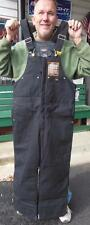 WALLS WORK WEAR ZIP-UP INSULATED BIB OVERALLS BLACK LARGE L NEW CONSTRUCTION