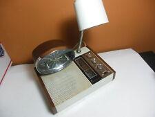 LONGINES SYMPHONETTE Wittnauer Clock Radio w/ Desk Lamp MID CENTURY LCR 510