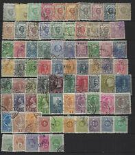 Montenegro 75 verschiedene gestempelte Marken aus 1874-1910