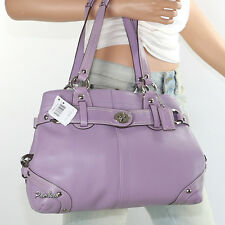 NWT Coach Carly Leather Shoulder Hand Bag Satchel Carryall F13236 Lilac New RARE
