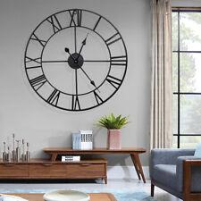 "16"" Large Outdoor Garden Vintage Wall Clock Big Roman Numerals Round Open Face"