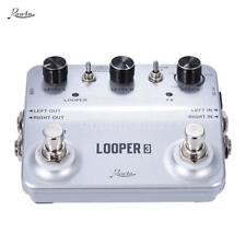 Rowin LOOPER3 Aluminum Alloy Guitar Effects Pedal with USB Cable Silver I4G5