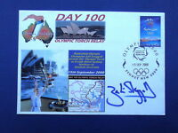 OLYMPIC SKIER ZALI STEGGALL SIGNED 2000 OLYMPIC TORCH RUN DAY 100 COVER