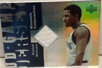 2007 UD Game Jersey Rashad McCants