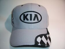 Kia Racing One Size Fits All Adjustable Black & Gray Checkered Flag Hat