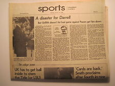 Louisville Times 1-19-1981. UL Basketball Darrell Griffith- Championship Ring