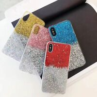 For Apple iPhone 5S/6S/7/8 plus Glitter Bling Sparkly Soft Gel Phone Cover Case
