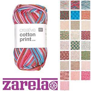 Rico Creative Cotton Aran PRINT - 50g - ***ALL COLOURS***