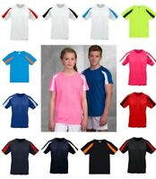 AWDis Kids Just Cool Contrast WICKING T-SHIRT UPF 30+ UV protection Many Colours
