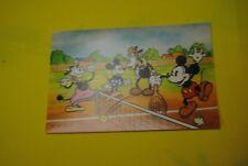 cp carte postale vintage  année 70 walt disney : mickey mouse minnie clarabelle