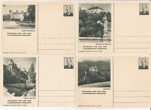 Wg108/ CSSR Ganzsache 4 Bildpostkarten *