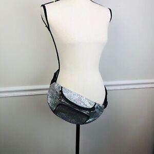 Womens Sequins Glitter Waist Belt not Moxi Bag Fanny Pack Travel Pouch Purse
